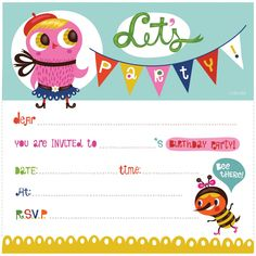New Tips Of Childrens Party Invitations Templates Free QHD Online Birthday
