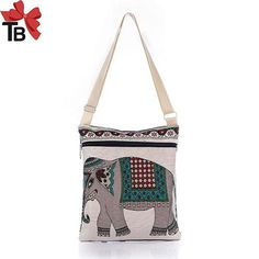 Elephant Casual Tote Messenger Bags