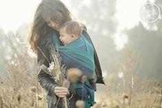 Kasumi Aurora woven baby wrap by Oscha Slings