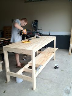 simple workbench plans 2a—4 free download l shaped patio bar plans