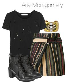 Aria Montgomery - pll / pretty little liars by shadyannon on Polyvore featuring polyvore fashion style Kain Yves Saint Laurent Dolce Vita Stella & Dot clothing