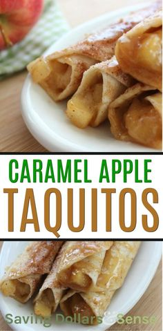 Caramel Apple Taquitos This is a simple and delicious caramel apple dessert recipe apple dessert recipe Mexican Dessert Recipes, Apple Dessert Recipes, Köstliche Desserts, Gourmet Recipes, Cooking Recipes, Healthy Recipes, Simple Apple Recipes, Desserts Caramel, Best Apple Recipes