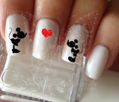 Disney Nail Art Mickey Minnie Mouse Nail Water Decals