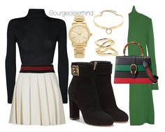 """""""Gucci"""" by bourgeoisiemind on Polyvore featuring Salvatore Ferragamo, Derek Lam, WearAll, Gucci, Michael Kors, Jennifer Fisher, Alexis Bittar, women's clothing, women and female"""