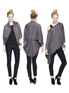 I need this. Jazzmin - Endless Wrap-Black or Charcoal