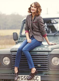 Jacket, £80, Ella at viyella.co.uk; Jeans, £182, mih-jeans.com; Brogues, £98.10, hobbs.co.uk
