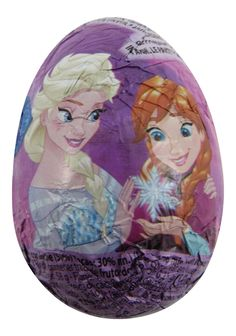 Frozen Surprise Eggs are a delicious milk chocolate egg with a special Frozen toy in the middle. They are designed much like Kinder Surprise Eggs with a capsule in the middle containing a special Frozen figurine in the middle.