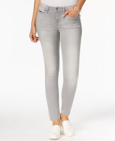 Calvin Klein Jeans Skinny Ankle-Length Jeans - Gray 27
