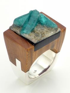 Wood Emerald Ring - Delight   NOT JUST A LABEL