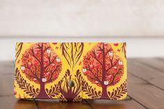 Handmade  Wallet  BiFold Wallet  Vegan Wallet / Tree by cottonpurr, $50.00