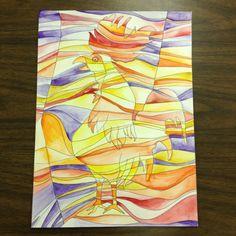 Watercolors - Paul Klee style!