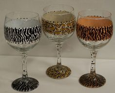 Idea for my next hand-painted wine glasses :))