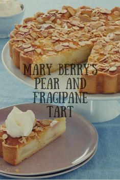 Served with a dollop of cream, you'll be back for more than a slice of delicious tart. British Baking Show Recipes, British Bake Off Recipes, Baking Recipes, Just Desserts, Mary Berry Desserts, Delicious Desserts, Dessert Recipes, Yummy Food, Sweet Pie