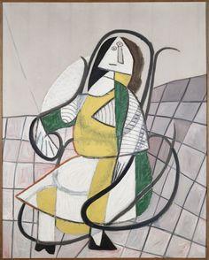 Pablo Picasso - The work Le Rocking-chair, 1943. Oil on canvas. Centre Pompidou Paris.