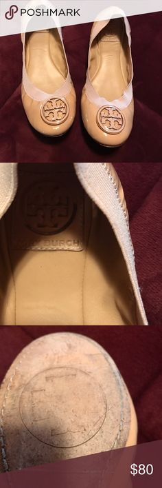Tory burch great 👍🏻 shoes These are tan awesome great shape have been worn. It kept very good condition front looks brand new these are a size 7 Tory Burch Shoes Flats & Loafers