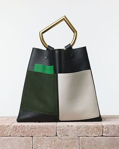 color block leather bag