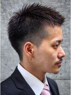 メンズビジネス・刈り上げベリーショート ビジネスヘアxジェル