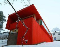 Casa Roja par JVA - près d'Oslo, Norvège - Oseriez-vous le rouge sur votre maison bois contemporaine ?
