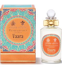 Penhaligon's Vaara Eau de Parfum is a celebration of Jodhpur, created by Bertrand Duchaufour for His Highness the Maharaja Gaj Singh II. Modern and intensely atmospheric, Vaara offers a unique glimpse into this aromatic world of the Maharaja.