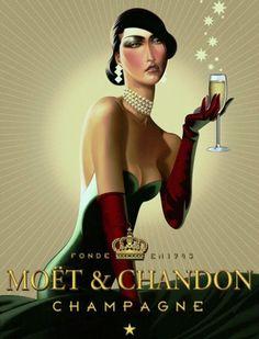 z- Woman w Champagne (Moet & Chandon- ad)