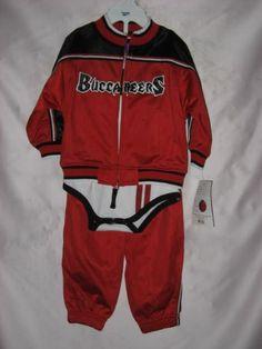 043dcba2d Amazon.com  Tampa Bay Buccaneers NFL Infants - Pants Jacket Onesie Creeper  - 3 Piece Tricot Jog Set (Infants 24 Months)  Sports   Outdoors