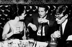 elizabeth taylor, paul newman and roddy mcdowell