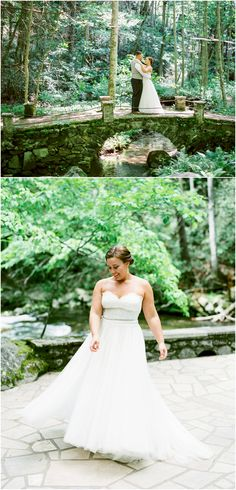 Spence Cabin wedding photos in the Smoky Mountains in Tennessee
