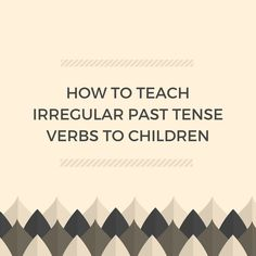 "In this video, speech-language pathologist Carrie Clark shows you how to teach a child to use irregular past tense verbs.   Use Before and After Pictures: Download mine here for free  Show the before and then the after and ask ""what happened?"".  The child must use the correct past tense to talk about what"