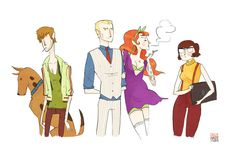 Noelle Stevenson's Badass Scooby Gang (the name says it all) | Robot 6 @ Comic Book Resources http://j.mp/MqvLeC