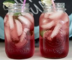 Homemade cherry limeade!