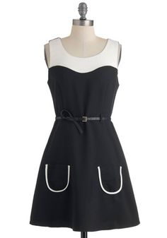 Radio Play Date Dress, $44.99 #ModCloth   @Rachel R Richardson and @Sophie LB Randall this dress is cute but at the same time it reminds me of High-Heeled Rain Boot... So that slightly detracts from its cuteness sad face