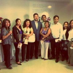 Junto a la directiva de CADEPIA de Cochabamba en la inauguración del CITE de confecciones.