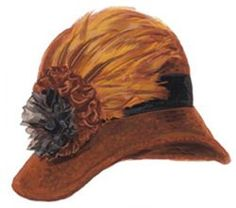 Flapper Feather Cloche Hat - @Mlle