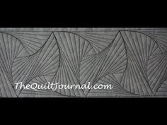 Free Motion Quilting: Zentangle Design with Rulerwork - YouTube