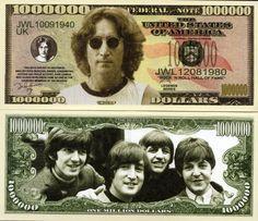 The Beatles Collection Million Dollar Novelty Money