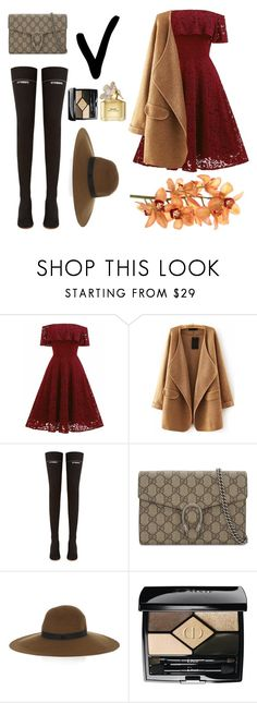 """""""sweetie_home#95TH"""" by dark-lee on Polyvore featuring WithChic, Vetements, Gucci, Maison Michel, Christian Dior and Marc Jacobs"""