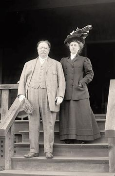 President and First Lady Taft. Mrs. Taft studied German and history at Miami University and later studied music at the University of Cincinnati. She briefly considered a musical career before her marriage.
