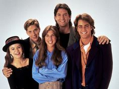 """Blossom (TV show) Jenna von Oy, Michael Stoyanov, Mayim Bialik, Ted Wass and Joey Lawrence (""""WOAH!"""") #90s"""
