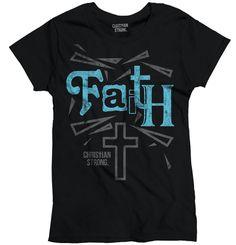 Christian Strong Heavy Cotton Ladies T-Shirt Faith Cross #ChristianStrong