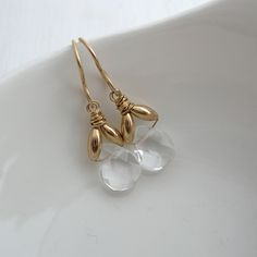 Rock Crystal Hope Earrings by Sarah Hickey, the perfect gift for Explore more unique gifts in our curated marketplace. Wire Earrings, Bridal Earrings, Gemstone Earrings, Crystal Earrings, Crystal Jewelry, Wire Jewelry, Etsy Earrings, Bridal Jewelry, Jewelry Gifts