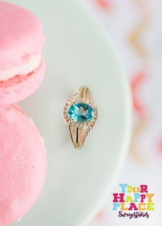 Love this bright blue Apatite ring from JTV! #Sweepstakes [Promotional Pin]  I Love this color of stone, would love earrings in this color too.
