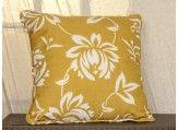 Yellow Floral Indoor/Outdoor Throw Pillow