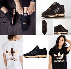 Womens Adidas ZX Flux Black Copper Rose Gold Metallic NMD Medal S78977 Size 9.5 in Clothing, Shoes & Accessories, Women's Shoes, Athletic | eBay