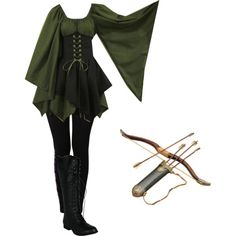 Elven Archer by christiancountrygirl1991 on Polyvore featuring NIKE