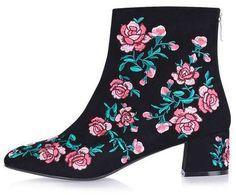 Blossom embroidery boots