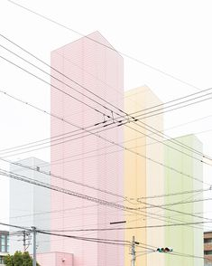 Pastel colours are a big trend of 2016 and there isn't a better way to show it than through architecture City Poster, Illustration Art, Illustrations, Design Graphique, Design Set, Urban Design, Grafik Design, Pastel Colors, Surface Design
