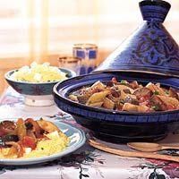 Tajine roasted veggies and couscous Tajin Recipes, Veggie Recipes, Healthy Recipes, Tajine Vegan, Tagine, Arabic Food, Mediterranean Recipes, Couscous, Good Food