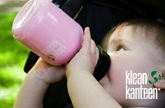 Waterfles voor peuters en kleuters gemaakt van BPA- en roestvrij staal van Klean Kanteen.