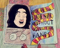 92 best diy wreck this journal images on pinterest wreck this soooo everyone else who had done this page had drawn a cute hermoine granger i thought i would do harry potter too but i chose it from th solutioingenieria Images