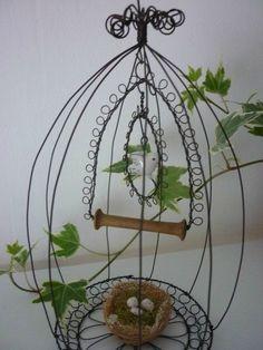 wire bird cage ornament